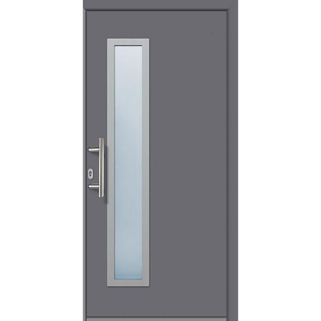 KM Meeth Aluminium-Haustür Modell A03 titan, rechts, nach innen öffnend - Bild 1