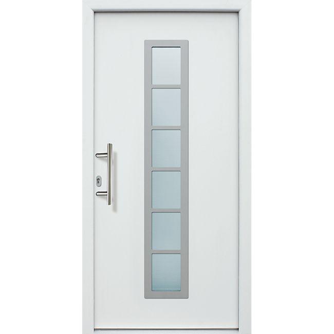 KM Meeth Aluminium-Haustür Modell A04 DIN links, weiß - Bild 1