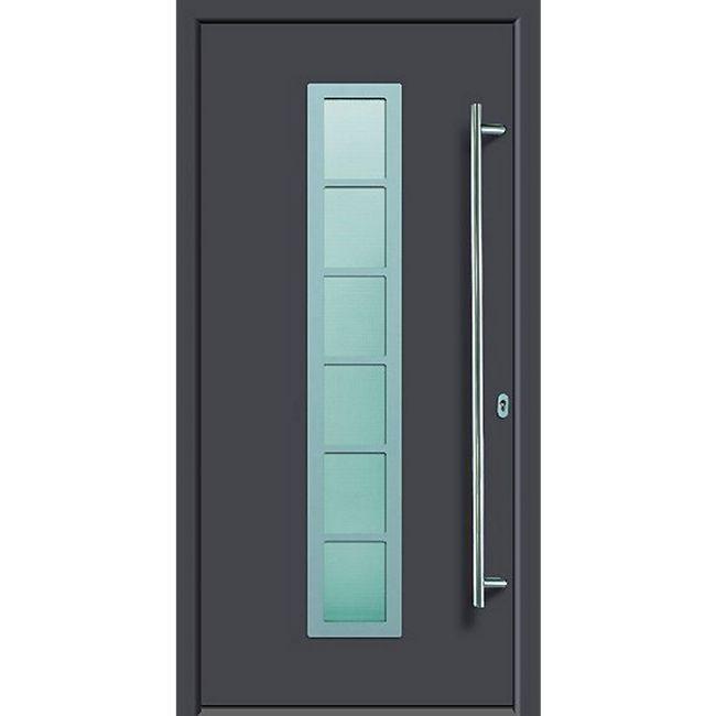 KM Meeth Aluminium-Haustür Modell A04 DIN rechts, anthrazit - Bild 1