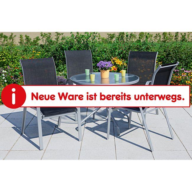 Merxx Tischgruppe Avellino 5tlg. mit Stapelstühlen und rundem Tisch - Bild 1