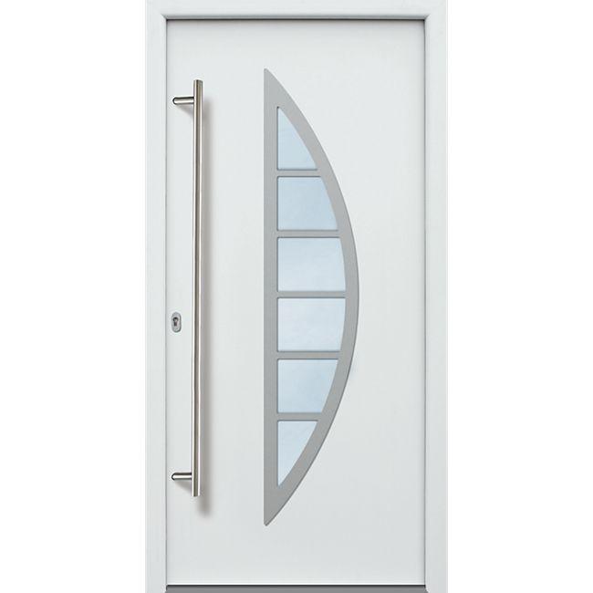 KM Meeth Aluminium-Haustür Modell A06 weiß, links, nach innen öffnend - Bild 1