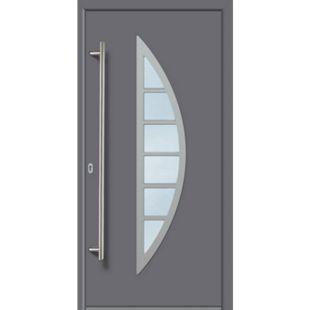KM Meeth Aluminium-Haustür Modell A06 grau, links, nach innen öffnend - Bild 1