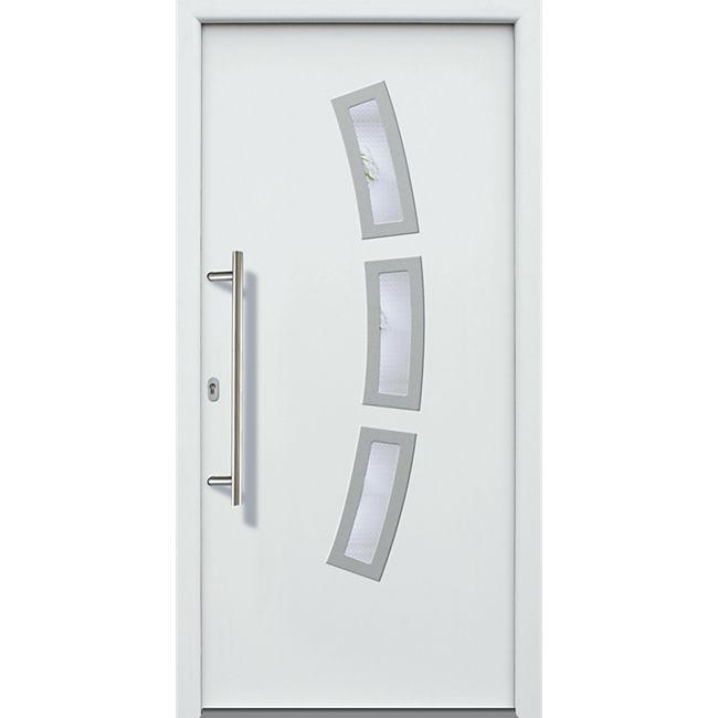 KM Meeth Aluminium-Haustür Modell A07 weiß, rechts, nach innen öffnend - Bild 1