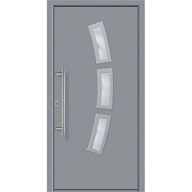 KM Meeth Aluminium-Haustür Modell A07 grau, links, nach innen öffnend - Bild 1