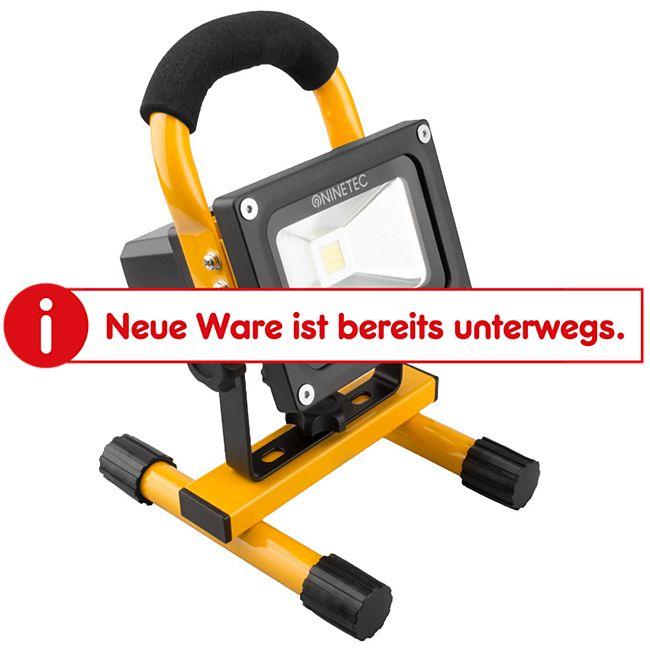NINETEC 10 W LED-Akku-Flutlichtstrahler, gelb - Bild 1