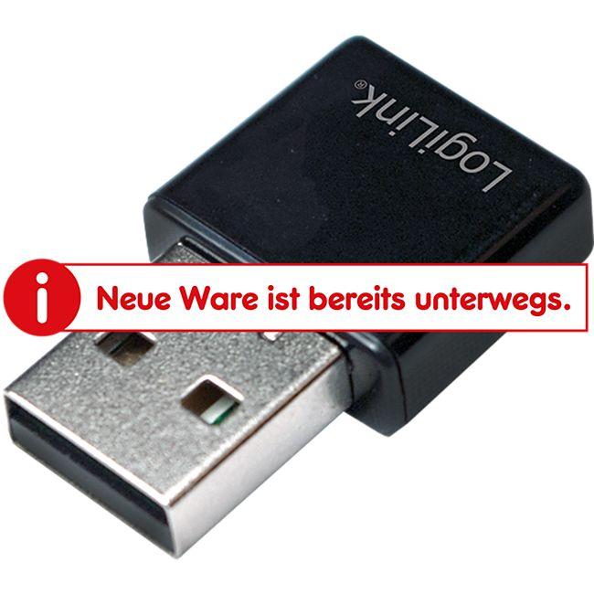 LogiLink WL0086B Wireless LAN 300 MBit/s USB 2.0 Micro Adapter - Bild 1