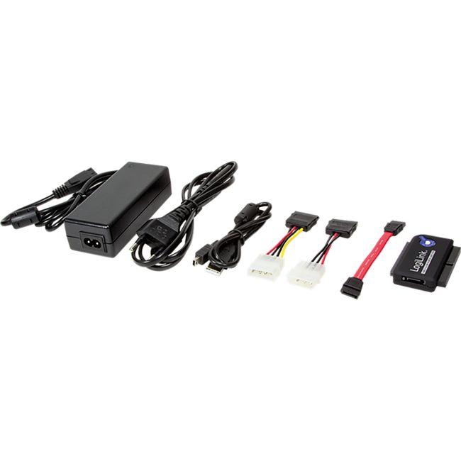LogiLink AU0006C Adapter USB 2.0 to 2,5 + 3,5 Zoll IDE + SATA HDD OTB - Bild 1
