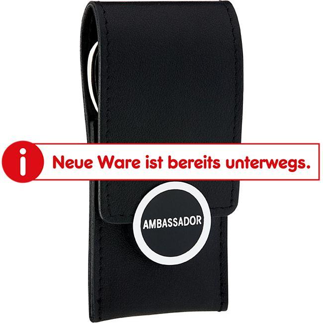 Ambassador Manicure-Etui New Nappa 3-teilig schwarz - Bild 1
