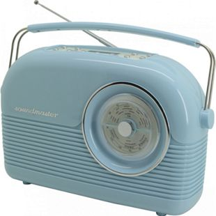 Soundmaster DAB450BL DAB+/UKW Retro Radio - hellblau - Bild 1