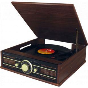 Soundmaster PL550BR Stereo Plattenspieler mit UKW Radio, USB und Encoding - Bild 1
