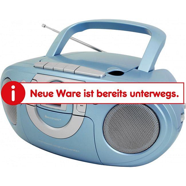 Soundmaster SCD5100BL Radio-Kassettenspieler mit CD-Spieler - hellblau - Bild 1