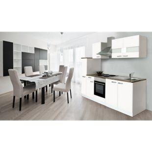Respekta Küchenzeile KB240WW 240 cm Weiß - Bild 1