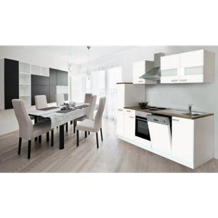Respekta Küchenzeile KB250WW 250 cm Weiß - Bild 1