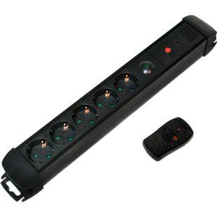 LogiLink LPS401 Steckdosenleiste, 5-fach mit Fernbedienung - Bild 1