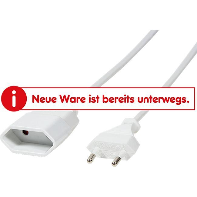 LogiLink CP126 Netzkabel Euro CEE 7/16 Stecker zu Dose, 2m - weiß - Bild 1