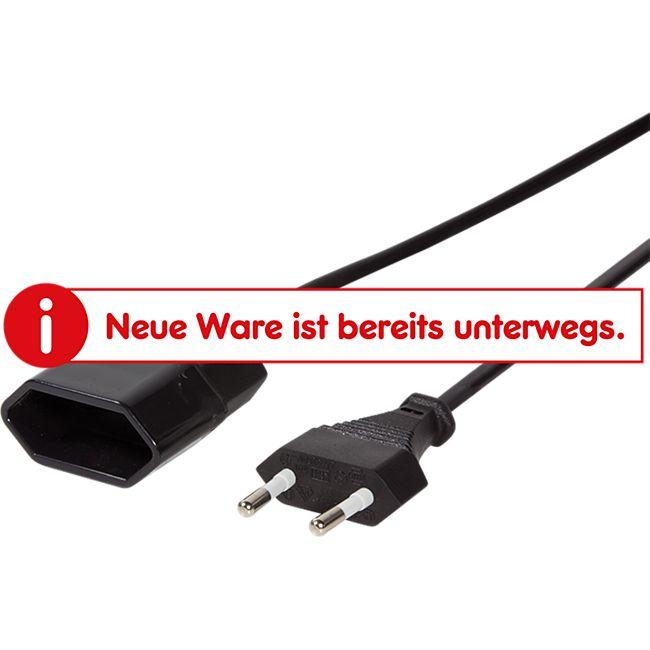 LogiLink CP123 Netzkabel Euro CEE 7/16 Stecker zu Dose, 2m - schwarz - Bild 1