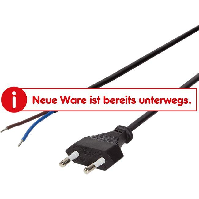 LogiLink CP137 Netzkabel Euro Stecker zu offenem Kabelende, 1.5m - schwarz - Bild 1