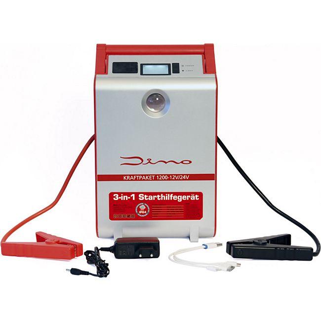 Dino KRAFTPAKET 136106 12V Starthilfegerät 1.200A 111Wh 30.000 mAh mit Powerbank - Bild 1