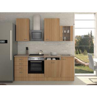 Flex-Well Küchenzeile 220 cm G-220-1703-012 Nano - Bild 1