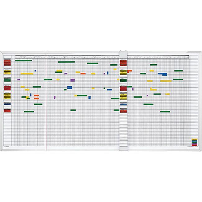 magnetoplan Aktivitäten- und Urlaubsplaner, 5-Tage-Woche - 80 Mitarbeiter - Bild 1