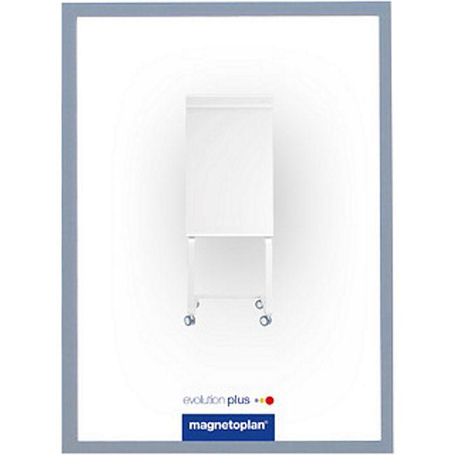 magnetoplan magnetofix-Sichtfenster A4 - 5er Pack grau - Bild 1