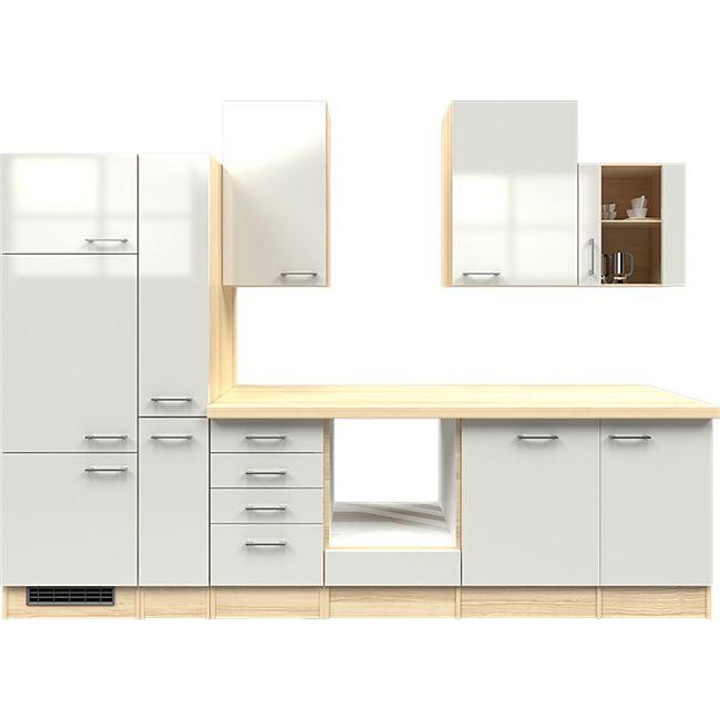 Flex-Well Küchenzeile ohne E-Geräte 310 cm L-310-2603-014 Abaco - Bild 1