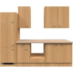 Flex-Well Küchenzeile ohne E-Geräte 270 cm L-270-2203-024 Nano - Bild 1