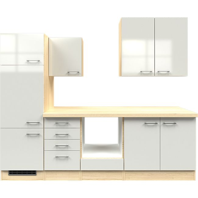 Flex-Well Küchenzeile ohne E-Geräte 270 cm L-270-2203-011 Abaco - Bild 1