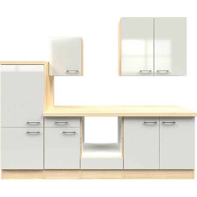 Flex-Well Küchenzeile ohne E-Geräte 270 cm L-270-2202-000 Abaco - Bild 1