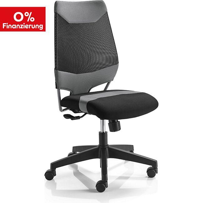 mayer sitzm bel drehstuhl mokami 2285 grau schwarz online kaufen netto. Black Bedroom Furniture Sets. Home Design Ideas