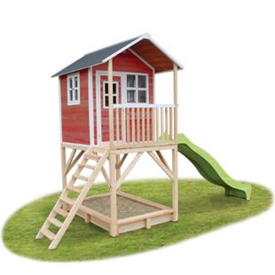 EXIT Loft 700 Holzspielhaus Rot - Bild 1