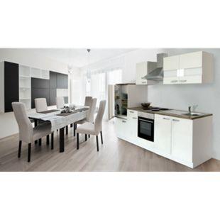 Respekta Küchenzeile KB270WW 270 cm Weiß - Bild 1