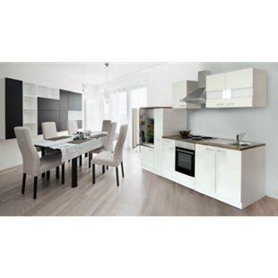 Respekta Küchenzeile KB300WW 300 cm Weiß - Bild 1