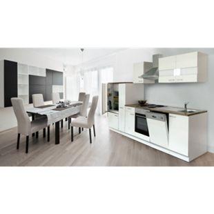 Respekta Küchenzeile KB310WW 310 cm Weiß - Bild 1