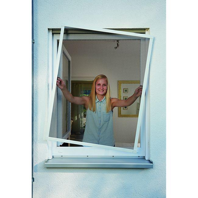 Schellenberg Insektenschutz-Fenster Plus, weiß, 100x120 cm - Bild 1
