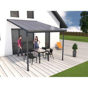 Gutta 4293162 Terrassenüberdachung anthrazit, 306 x 406 cm - Bild 1