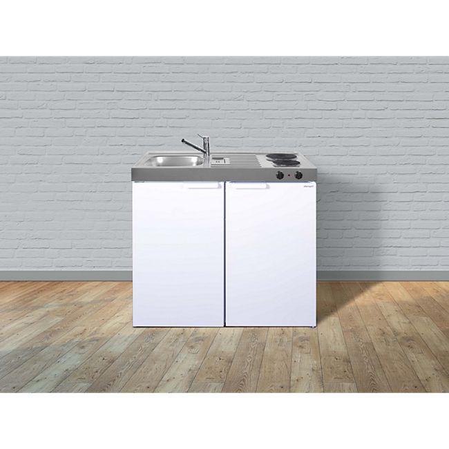 Stengel Küchen Kitchenline MK 100 weiß - Elektrokochfeld rechts - Bild 1