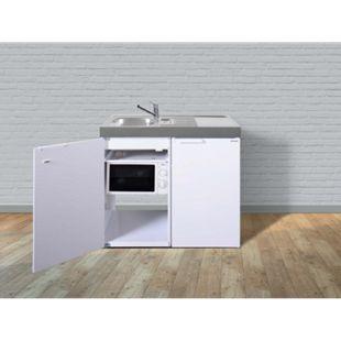 Stengel Küchen Kitchenline MKM 100 weiß - ohne Kochfeld rechts Becken links - Bild 1