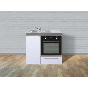Stengel Küchen Kitchenline MKB 100 weiß - ohne Kochfeld rechts, Becken links - Bild 1
