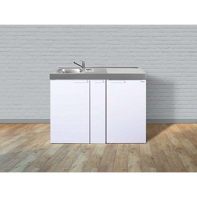 Stengel Küchen Kitchenline MK 120 A weiß - ohne Kochfeld rechts Becken links - Bild 1