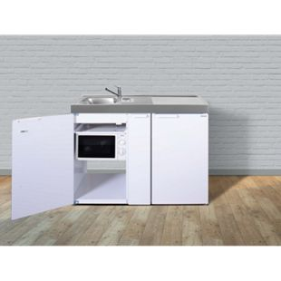 Stengel Küchen Kitchenline MKM 120 A weiß - ohne Kochfeld rechts Becken links - Bild 1