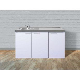 Stengel Küchen Kitchenline MK 150 weiß - ohne Kochfeld rechts, Becken links - Bild 1