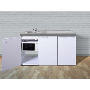 Stengel Küchen Kitchenline MKM 150 weiß - ohne Kochfeld rechts, Becken links - Bild 1