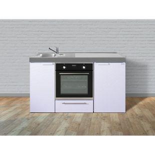 Stengel Küchen Kitchenline MKB 150 weiß - ohne Kochfeld rechts, Becken links - Bild 1
