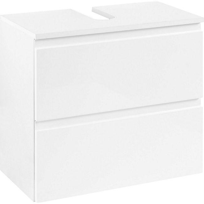 Held Möbel Unterbeckenschrank Cardiff 60 cm - Hochglanz Weiß - Bild 1