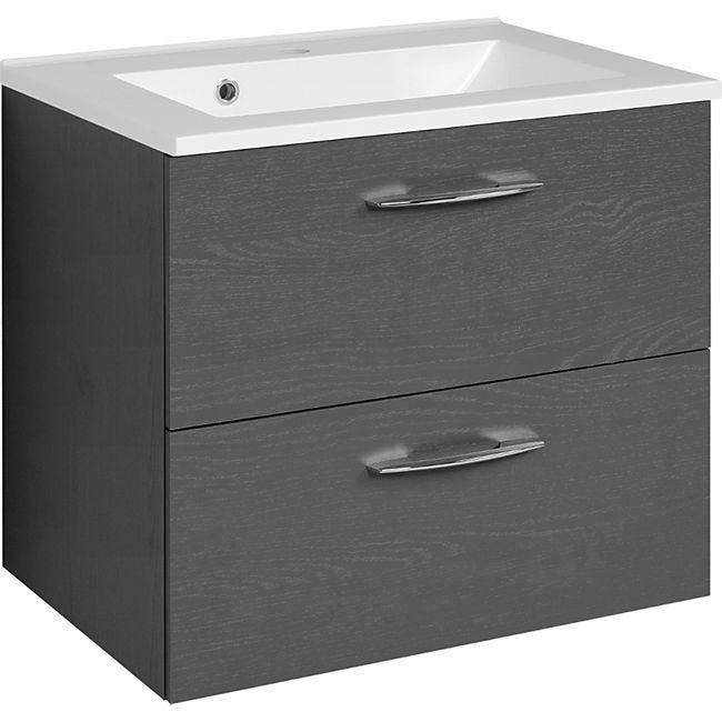 Held Möbel Waschtisch Portofino - 60 cm - Graphitgrau - Bild 1