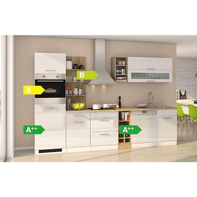 Held Möbel Küchenzeile Seattle 310 cm GS Hochglanz Weiß - Bild 1