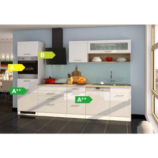 Held Möbel Küchenzeile Seattle 300GS cm Hochglanz Weiß - Bild 1