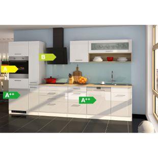 Held Möbel Küchenzeile Seattle 330GA cm Hochglanz Weiß - Bild 1