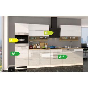 Held Möbel Küchenzeile Orlando 330GS Hochglanz Weiß - Bild 1